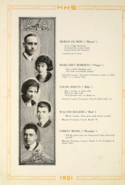 Page 24, 1921 Edition, Moundsville High School - Orospolitan Yearbook (Moundsville, WV) online yearbook collection
