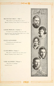 Page 25, 1921 Edition, Moundsville High School - Orospolitan Yearbook (Moundsville, WV) online yearbook collection