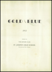 Page 5, 1952 Edition, St Joseph High School - Gold and Blue Yearbook (Huntington, WV) online yearbook collection