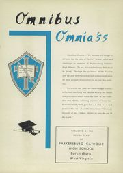 Page 5, 1955 Edition, Parkersburg Catholic High School - Omnibus Omnia Yearbook (Parkersburg, WV) online yearbook collection