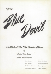 Page 5, 1954 Edition, Sutton High School - Blue Devil Yearbook (Sutton, WV) online yearbook collection