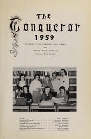 Page 5, 1959 Edition, Mountain State High School - Conqueror Yearbook (Alderson, WV) online yearbook collection