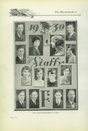Page 10, 1930 Edition, Buckhannon High School - Rhododendron Yearbook (Buckhannon, WV) online yearbook collection