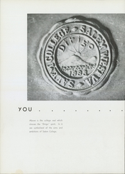 Page 10, 1942 Edition, Salem College - Dirigo Yearbook (Salem, WV) online yearbook collection