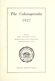 Page 7, 1927 Edition, Shepherd University - Cohongoroota Yearbook (Shepherdstown, WV) online yearbook collection