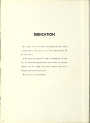 Page 8, 1958 Edition, Shepherd University - Cohongoroota Yearbook (Shepherdstown, WV) online yearbook collection