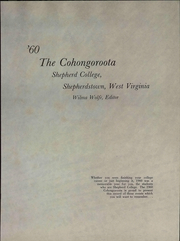 Page 7, 1960 Edition, Shepherd University - Cohongoroota Yearbook (Shepherdstown, WV) online yearbook collection