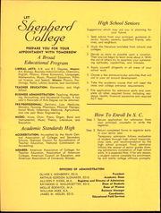 Page 2, 1963 Edition, Shepherd University - Cohongoroota Yearbook (Shepherdstown, WV) online yearbook collection