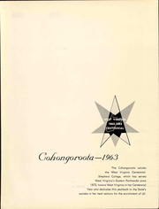 Page 5, 1963 Edition, Shepherd University - Cohongoroota Yearbook (Shepherdstown, WV) online yearbook collection
