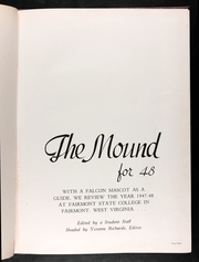 Page 5, 1948 Edition, Fairmont State University - Mound Yearbook (Fairmont, WV) online yearbook collection