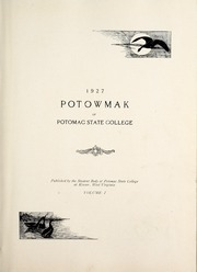 Page 5, 1927 Edition, Potomac State College - Catamount Yearbook (Keyser, WV) online yearbook collection