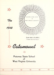 Page 7, 1948 Edition, Potomac State College - Catamount Yearbook (Keyser, WV) online yearbook collection