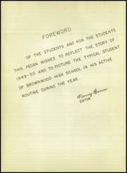 Page 6, 1950 Edition, Brownwood High School - Pecan Yearbook (Brownwood, TX) online yearbook collection