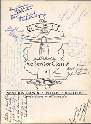 Page 7, 1932 Edition, Watertown High School - Orbit Yearbook (Watertown, WI) online yearbook collection