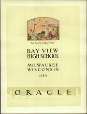 Page 9, 1929 Edition, Bay View High School - Oracle Yearbook (Milwaukee, WI) online yearbook collection