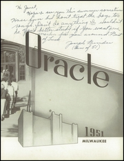 Page 9, 1951 Edition, Bay View High School - Oracle Yearbook (Milwaukee, WI) online yearbook collection