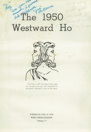 Page 5, 1950 Edition, West High School - Westward Ho Yearbook (Madison, WI) online yearbook collection