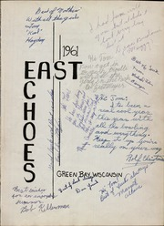 Page 5, 1961 Edition, East High School - East Echoes Yearbook (Green Bay, WI) online yearbook collection
