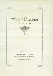 Page 7, 1930 Edition, Waupun High School - Waubun Yearbook (Waupun, WI) online yearbook collection