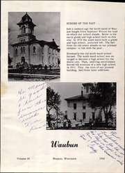 Page 5, 1962 Edition, Waupun High School - Waubun Yearbook (Waupun, WI) online yearbook collection
