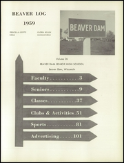 Page 5, 1959 Edition, Beaver Dam High School - Beaver Log Yearbook (Beaver Dam, WI) online yearbook collection