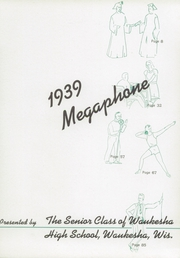 Page 9, 1939 Edition, Waukesha High School - Megaphone Yearbook (Waukesha, WI) online yearbook collection