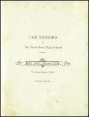 Page 5, 1923 Edition, West Bend High School - Bend Yearbook (West Bend, WI) online yearbook collection