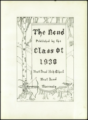 Page 7, 1930 Edition, West Bend High School - Bend Yearbook (West Bend, WI) online yearbook collection