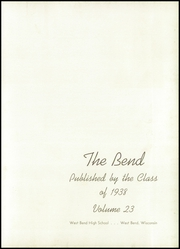 Page 7, 1938 Edition, West Bend High School - Bend Yearbook (West Bend, WI) online yearbook collection