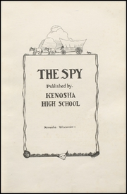 Page 9, 1924 Edition, Kenosha High School - Spy Yearbook (Kenosha, WI) online yearbook collection