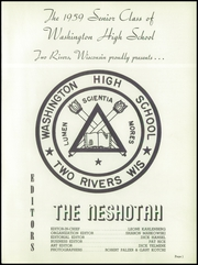 Page 9, 1959 Edition, Washington High School - Neshotah Yearbook (Two Rivers, WI) online yearbook collection