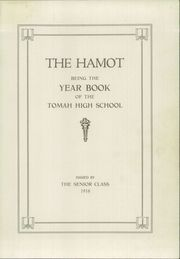 Page 3, 1918 Edition, Tomah High School - Hamot Yearbook (Tomah, WI) online yearbook collection