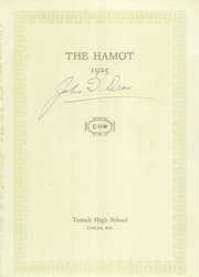 Page 5, 1925 Edition, Tomah High School - Hamot Yearbook (Tomah, WI) online yearbook collection