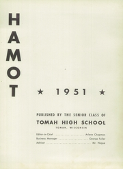 Page 5, 1951 Edition, Tomah High School - Hamot Yearbook (Tomah, WI) online yearbook collection
