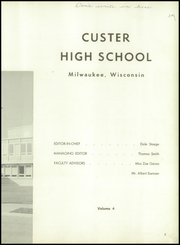 Page 7, 1959 Edition, Custer High School - Warrior Yearbook (Milwaukee, WI) online yearbook collection