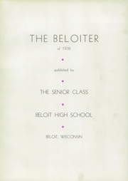 Page 7, 1936 Edition, Beloit Memorial High School - Beloiter Yearbook (Beloit, WI) online yearbook collection