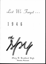 Page 3, 1946 Edition, Bradford High School - Spy Yearbook (Kenosha, WI) online yearbook collection