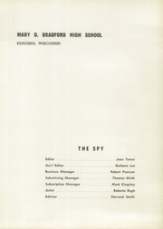 Page 5, 1957 Edition, Bradford High School - Spy Yearbook (Kenosha, WI) online yearbook collection