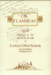 Page 9, 1928 Edition, Lincoln High School - Flambeau Yearbook (Manitowoc, WI) online yearbook collection