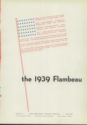 Page 5, 1939 Edition, Lincoln High School - Flambeau Yearbook (Manitowoc, WI) online yearbook collection