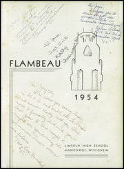 Page 5, 1954 Edition, Lincoln High School - Flambeau Yearbook (Manitowoc, WI) online yearbook collection