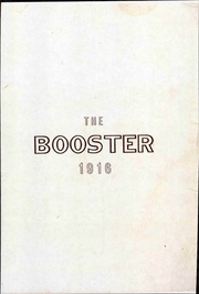 Page 1, 1916 Edition, Central High School - Booster Yearbook (La Crosse, WI) online yearbook collection