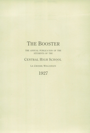 Page 7, 1927 Edition, Central High School - Booster Yearbook (La Crosse, WI) online yearbook collection