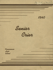 Page 1, 1940 Edition, Oconomowoc High School - Reflections Yearbook (Oconomowoc, WI) online yearbook collection