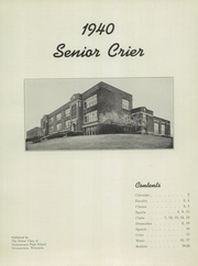 Page 3, 1940 Edition, Oconomowoc High School - Reflections Yearbook (Oconomowoc, WI) online yearbook collection