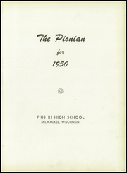Page 5, 1950 Edition, Pius XI High School - Journal Yearbook (Milwaukee, WI) online yearbook collection
