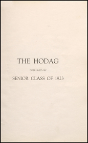 Page 5, 1923 Edition, Rhinelander High School - Hodag Yearbook (Rhinelander, WI) online yearbook collection