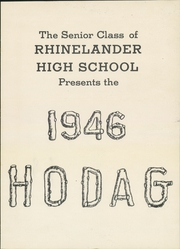 Page 5, 1946 Edition, Rhinelander High School - Hodag Yearbook (Rhinelander, WI) online yearbook collection