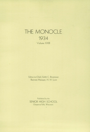 Page 2, 1934 Edition, Chippewa Falls High School - Monocle Yearbook (Chippewa Falls, WI) online yearbook collection