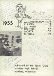 Page 7, 1955 Edition, Hartford High School - Oriole Yearbook (Hartford, WI) online yearbook collection